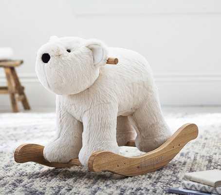 Polar Bear Fur Plush Rocker - Pottery Barn Kids