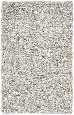 "Safavieh Leather Shag LSG511 Rug-White-8""x10"" - Rugs USA"