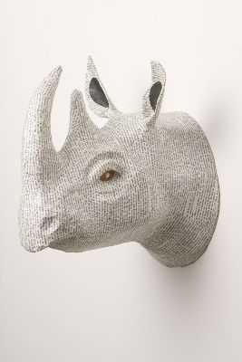 Savannah Story Bust, Rhino - White - Anthropologie