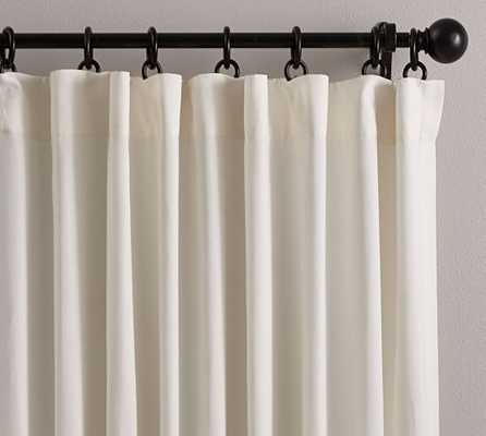 "Cameron Cotton Pole Pocket Drape - Ivory, 108""L - Pottery Barn"