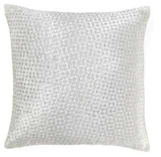 Dot 16x16 Silk-Blend Pillow, White-feather insert - One Kings Lane