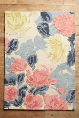 Rose Relief Rug - Multi - 2x3 - Anthropologie