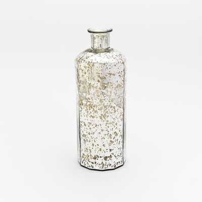 Mercury Glass Bottle Vases - Tall - West Elm