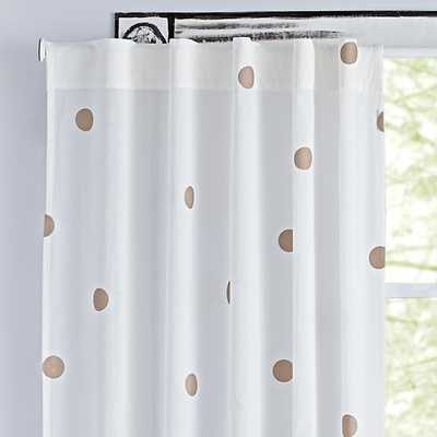"96"" Champagne Dot Curtain - Land of Nod"