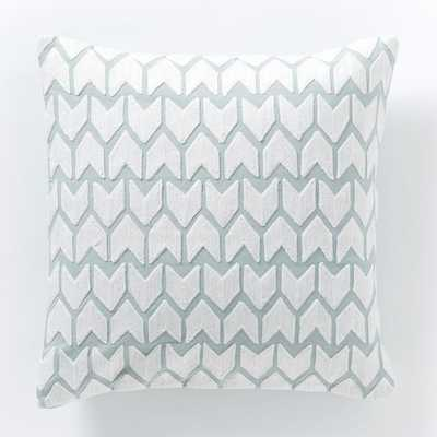 "Coyuchi Crewel Arrow Pillow Cover - 16"" x 16"" - Insert sold separately - West Elm"
