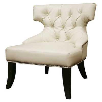 Baxton Studio Leather Chair - AllModern