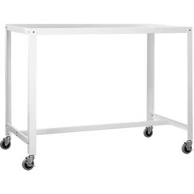 go-cart white rolling counter table - CB2