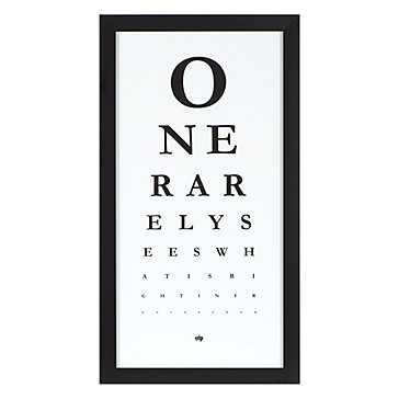 Eye Chart-Framed - Z Gallerie