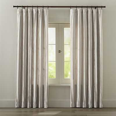 "Kendal Natural 50""W x 96""H Curtain Panel - Crate and Barrel"