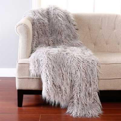 Wild Mannered Mongolian Lamb Faux Fur Throw Blanket - atgstores.com