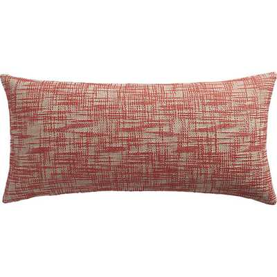 """format red-orange 23""""x11"""" pillow with down-alternative insert - CB2"""