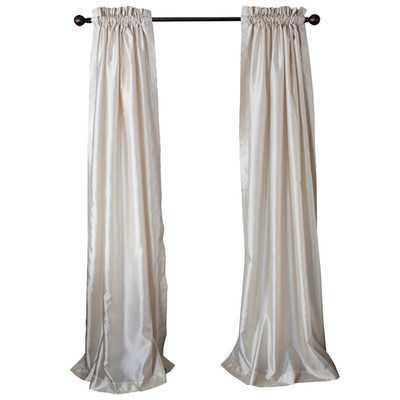 """Sanburne Parquet Curtain Panel - Ivory, 96"""" - Wayfair"""