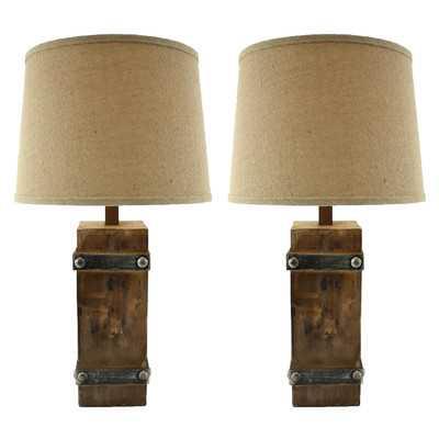 "Brockton II 27"" H Table Lamp with Empire Shade - Wayfair"