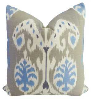 Exotic 20x20 Cotton Pillow, Multi - Feather down insert - One Kings Lane