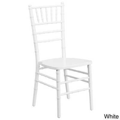 Flash Elegance Wood Chiavari Chair - White - Overstock