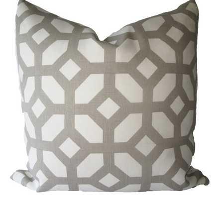 Lattice Trellis Fretwork Grey Pillow Cover - 18x18 - no insert - Etsy