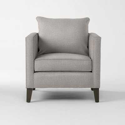 Dunham Down-Filled Armchair - Toss Back - Linen Weave, Platinum - West Elm