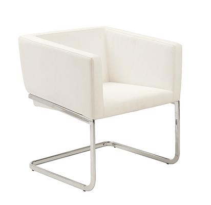 Cecilia Lounge Chair WHITE/CHROME - Apt2B