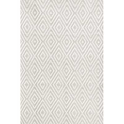 "Diamond Platinum & White Indoor/Outdoor Area Rug - 8'6"" x 11' - AllModern"