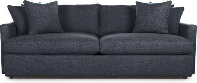 "Lounge II 93"" Sofa - Cobalt - Crate and Barrel"