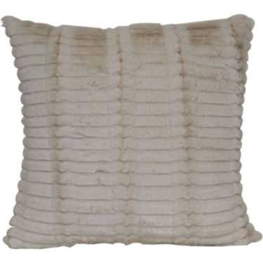 Faux-Fur Decorative Pillow - Ivory - 18x18 - With Insert - JC Penney