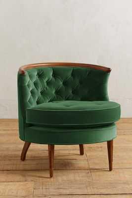 Velvet Bixby Chair - Emerald - Anthropologie