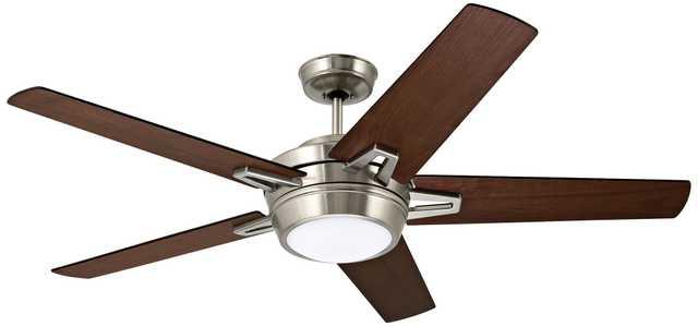 "54"" Emerson Southtowne Brushed Steel Ceiling Fan - Lamps Plus"