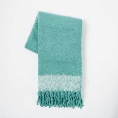 Cozy Texture Throw - Peacock - West Elm