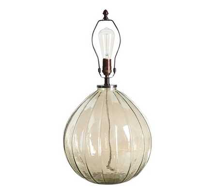 Alana Luster Glass Table Lamp Base - Green - Pottery Barn