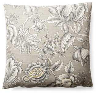 Sketch Floral 20x20 Cotton Pillow - One Kings Lane