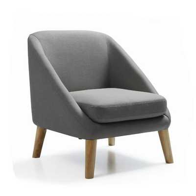 Hodedah Accent Mid-century Style Chair - Charcoal - Overstock