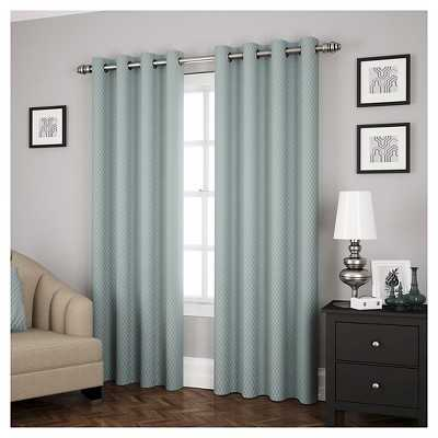 "Eclipse Ridely Thermapanel Curtain Panel - River Blue - 52""W x 95""L - Target"