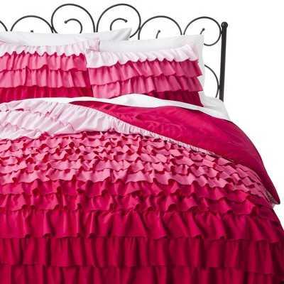 Ruffle Comforter Set - Pink - Twin - Target
