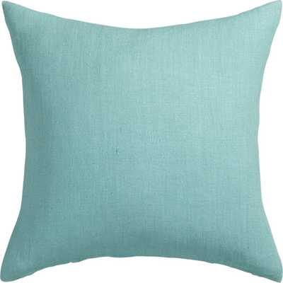 "linon aqua 20"" pillow with feather-down insert - CB2"