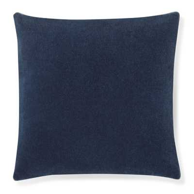 Mohair Pillow Cover with Contrast Edge, Navy - Williams Sonoma