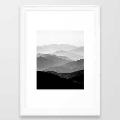 """Mountain Mist 15"""" x 21"""" framed - Society6"""