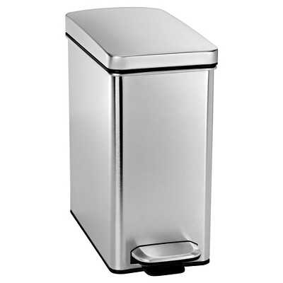 simplehuman 10 Liter Profile Step Trash Can in Fingerprint-Proof Brushed Stainless Steel - Target
