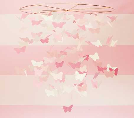 Pink Paper Butterfly Ceiling Mobile - Pottery Barn Kids