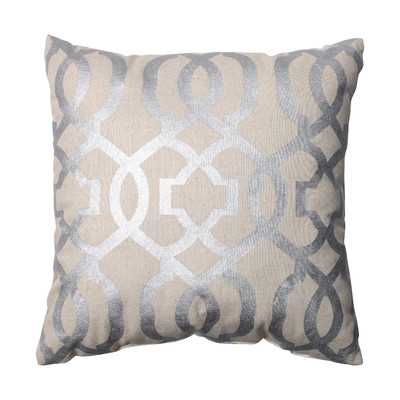 "Ashford 16.5"" Throw Pillow - Silver - With insert - Wayfair"
