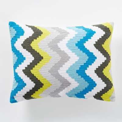 "Coyuchi Crewel Deco Pillow Cover - 12""w x 16""l - no insert - West Elm"