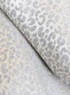 """Snow Leopard Velvet / Chenille Pillow Cover - 20""""Sq. - No Insert - Etsy"""