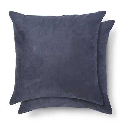 Suede Pillow 2-Pack - Blue, 18x18, With Insert - Target