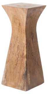 Suar Wood Pedestal, Natural - One Kings Lane