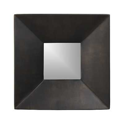 Rory II Square Wall Mirror, SIngle - Crate and Barrel