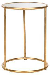 Porter Round Side Table, Gold - One Kings Lane