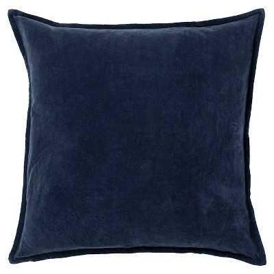"Cotton Velvet Toss Pillow - Charcoal - 18""sq. - Polyester fill - Target"