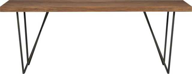 """Dylan 36""""x80""""dining table - CB2"""