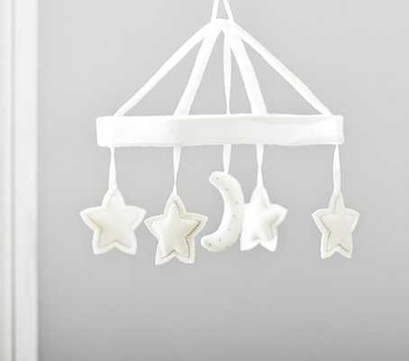 Wool Moon And Stars Crib Mobile - Pottery Barn Kids