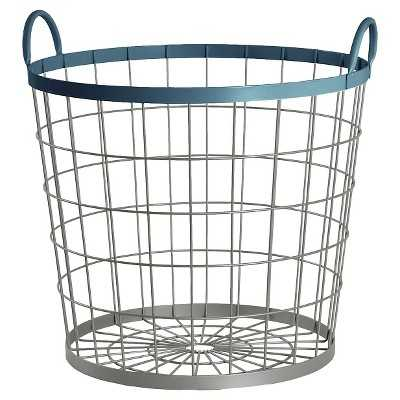 "Wire Floor Bin Round Navy - Pillowfortâ""¢ - Target"
