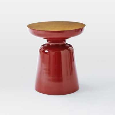 Martini Two Tone Side Table - Paprika - West Elm